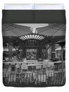 Catal Outdoor Cafe Downtown Disneyland Bw Duvet Cover