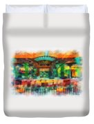 Catal Outdoor Cafe Downtown Disneyland Photo Art 01 Duvet Cover