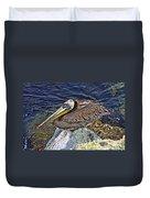 Catalina Pelican Duvet Cover