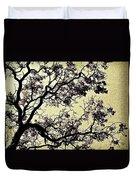 Catalpa Tree Gold Duvet Cover