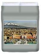 Catania Sicily Duvet Cover