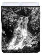 Cataract Falls Smoky Mountains Bw Duvet Cover
