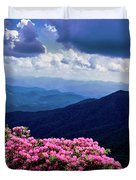 Catawba Rhododendron In Bloom, Yellow Duvet Cover