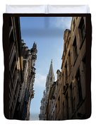 Catching A Glimpse Of Grand Place Brussels Belgium Duvet Cover