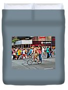 Catching A Ride Duvet Cover