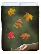 Catching Leaves Duvet Cover