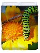 Caterpillar On The Prowl Duvet Cover