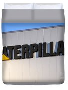 Caterpillar Sign Picture Duvet Cover by Paul Velgos