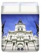 Cathedral-basilica Of St. Louis King Of France Duvet Cover