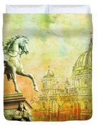 Cathedral De Berlin Duvet Cover by Catf