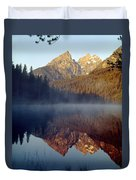 4m9304-cathedral Group Reflection, Tetons, Wy Duvet Cover