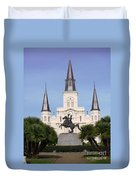 Cathedral In Jackson Square Duvet Cover