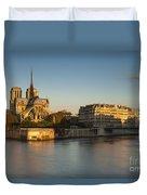 Cathedral Notre Dame - Sunrise Duvet Cover