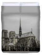 Cathedral Of Notre Dame De Paris Duvet Cover by Marco Oliveira