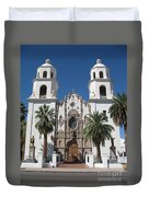Cathedral Of St. Augustine Tuscon Duvet Cover