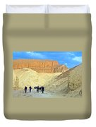 Cathedral Peaks From Golden Canyon In Death Valley National Park-california Duvet Cover