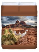 Cathedral Rock After The Storm Duvet Cover