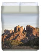 Cathedral Rock At Sunset Duvet Cover