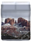 Cathedral Rock In Winter Arizona Duvet Cover