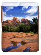 Cathedral Rock Reflections Duvet Cover