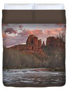 Cathedral Rock Sunset Duvet Cover by Paul Riedinger