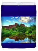 Cathedral Rocks At Red Rock Crossing Duvet Cover