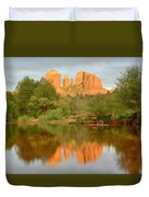Cathedral Rocks Reflection Duvet Cover