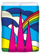 Cathedral Spires Stained Glass Lichfield Duvet Cover
