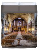 Cathedrale Saint-etienne Interior / Cahors Duvet Cover