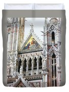 Cathedrals Of Tuscany Siena Italy Duvet Cover