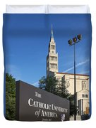 Catholic University Of America Duvet Cover