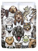 Cats And Dogs Duvet Cover
