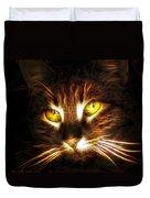 Cat's Eyes - Fractal Duvet Cover