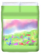 Cats In The Meadow Duvet Cover
