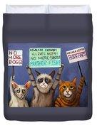 Cats On Strike Edit 2 Duvet Cover
