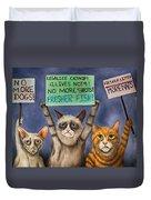 Cats On Strike Edit 3 Duvet Cover