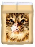 Cat's Perception Duvet Cover