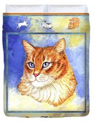 Cats Purrfection Five - Orange Tabby Duvet Cover