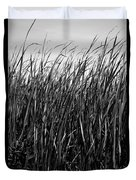 Cattail Reed Background Duvet Cover