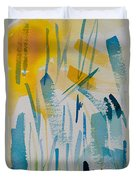 Cattail Sun Duvet Cover