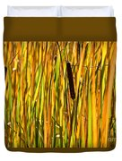 Cattails Aflame Duvet Cover