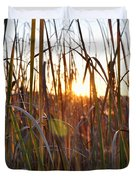 Cattails And Reeds - West Virginia Duvet Cover