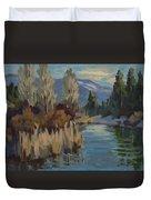 Cattails At Harry's Pond 1 Duvet Cover