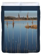 Cattails Cape May Point Nj Duvet Cover