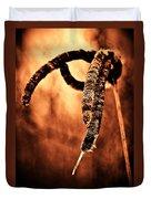 Cattails On Fire Duvet Cover