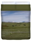Cattle And Bible Verse Duvet Cover
