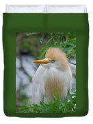 Cattle Egret Duvet Cover by Skip Willits