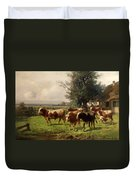Cattle Heading To Pasture Duvet Cover