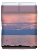 Cattle Point At Sunset On Vancouver Island British Columbia Duvet Cover