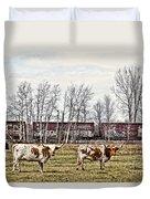 Cattle Train Duvet Cover